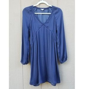 Hinge Lace Detail Minidress Blue XS